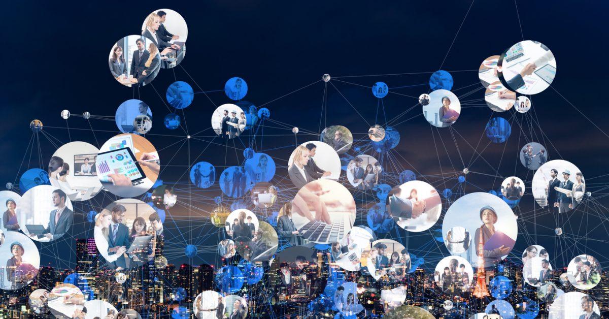 Global communication network concept. Worldwide business. Diversity.